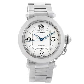 Cartier Pasha C W31074M7 Stainless Steel & White Dial Automatic 35mm Womens Watch