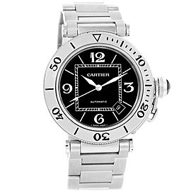 Cartier Pasha Seatimer W31077M7 Stainless Steel & Black Dial 40.5mm Mens Watch