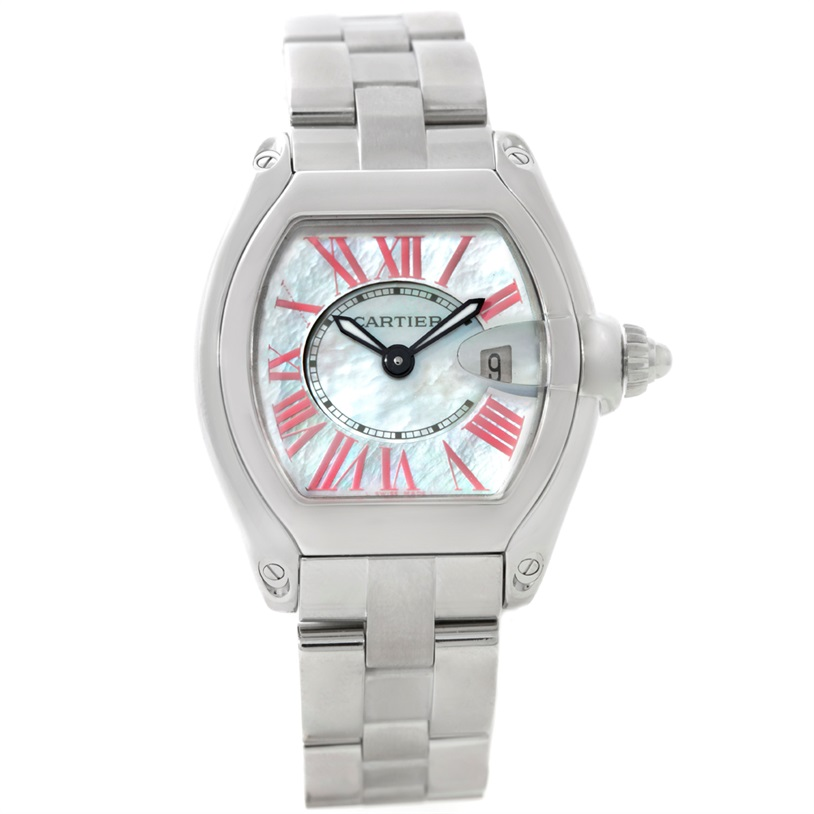 """Image of """"Cartier Roadster W6206006 Stainless Steel Mother of Pearl Dial 30mm"""""""
