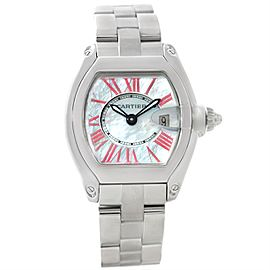 Cartier Roadster W6206006 Stainless Steel Mother of Pearl Dial 30mm Womens Watch
