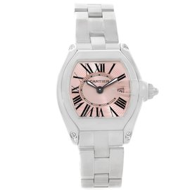 Cartier Roadster W62017V3 Stainless Steel Pink Dial 30mm Womens Watch