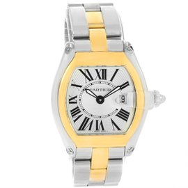 Cartier Roadster W62026Y4 Stainless Steel Yellow Gold 36mm Womens Watch