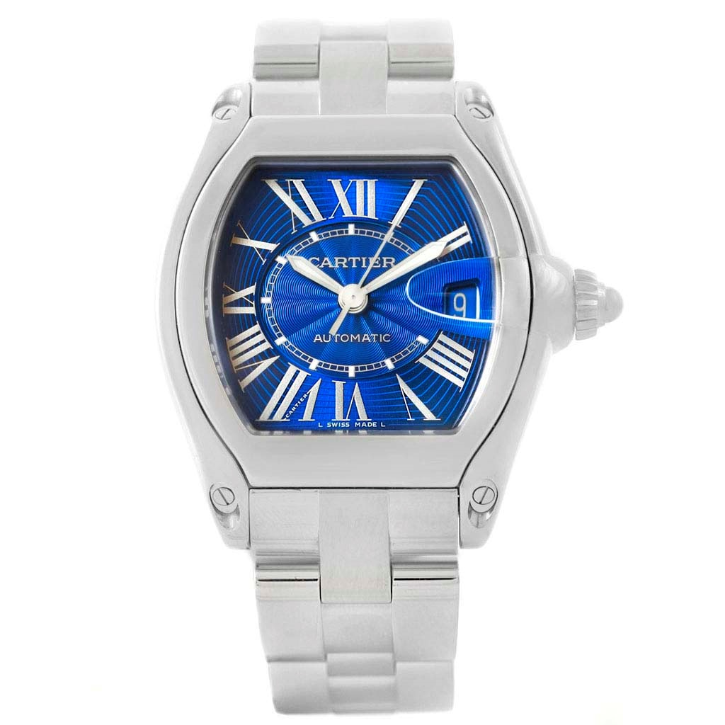 """Image of """"Cartier Roadster W62048V3 Stainless Steel Automatic 38mm Mens Watch"""""""