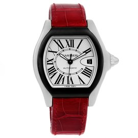Cartier Roadster W6206018 Stainless Steel & Silver Dial 45.6mm Mens Watch