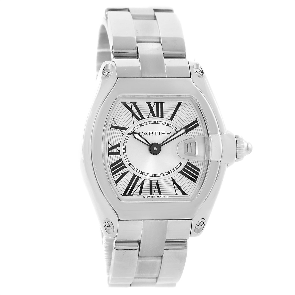 """Image of """"Cartier Roadster W62016V3 Stainless Steel & Silver Dial 30mm Womens"""""""