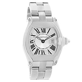 Cartier Roadster W62016V3 Stainless Steel & Silver Dial 30mm Womens Watch