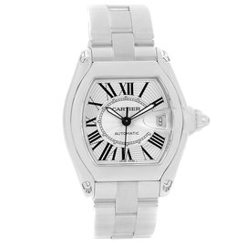 Cartier Roadster W62025V3 Stainless Steel & Silver Roman Dial Automatic 38mm Mens Watch