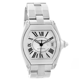 Cartier Roadster W62025V3 Stainless Steel & Silver Roman Dial 38mm Mens Watch
