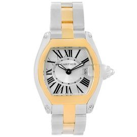 Cartier Roadster W62026Y4 Stainless Steel & 18K Yellow Gold 30mm Womens Watch