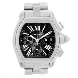 Cartier Roadster W62020X6 Stainless Steel & Black Dial Automatic 43mm Mens Watch