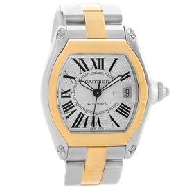 Cartier Roadster W62031Y4 18K Yellow Gold & Stainless Steel 38mm Mens Watch