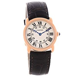 Cartier Ronde Louis W6800151 18K Rose Gold Quartz 29mm Womens Watch
