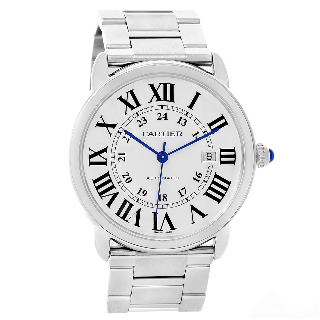 "Image of ""Cartier W6701011 Ronde Solo Stainless Steel Automatic 42mm Mens Watch"""