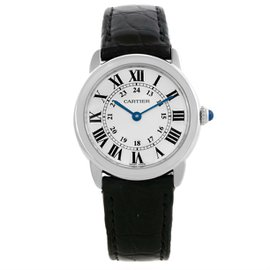 Cartier Ronde Solo W6700155 Stainless Steel & Silver Dial 29mm Womens Watch