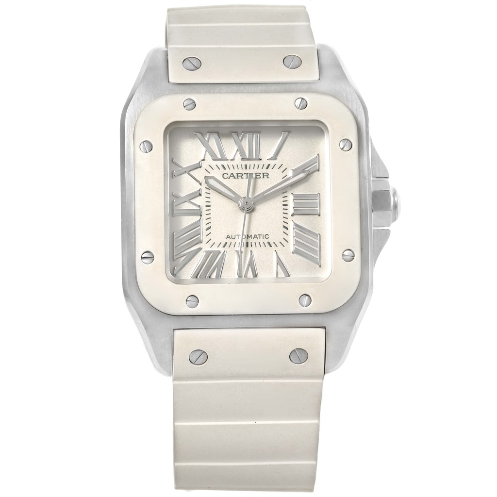 """Image of """"Cartier Santos 100 W20121U2 Stainless Steel Automatic 32mm Womens"""""""