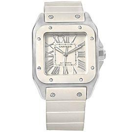Cartier Santos 100 W20121U2 Stainless Steel Automatic 32mm Womens Watch