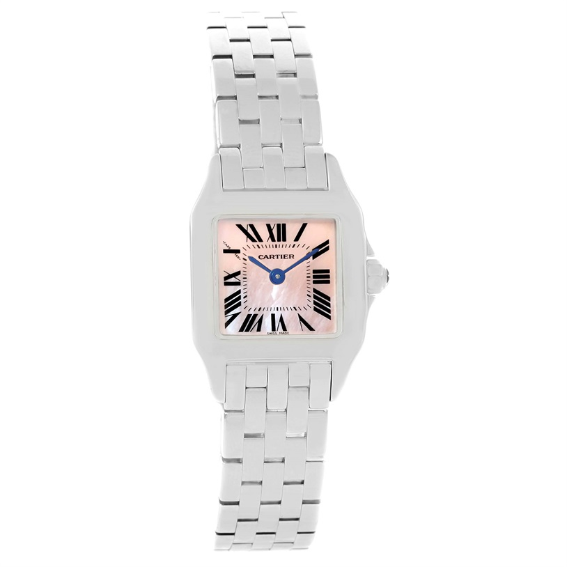 """Image of """"Cartier Santos Demoiselle W25075Z5 Stainless Steel Mother Of Pearl"""""""