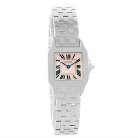 Cartier Santos Demoiselle W25075Z5 Stainless Steel Mother Of Pearl 22mm Womens Watch