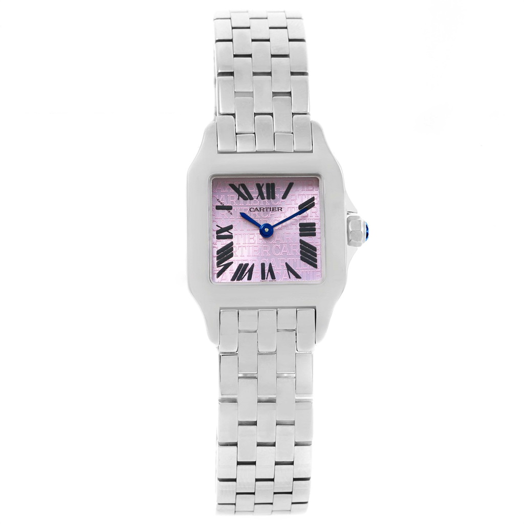 "Image of ""Cartier Santos W2510002 Demoiselle Stainless Steel Purple Dial 20mm"""
