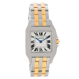Cartier Santos Demoiselle W25067Z6 Stainless Steel & 18K Yellow Gold 26mm Womens Watch