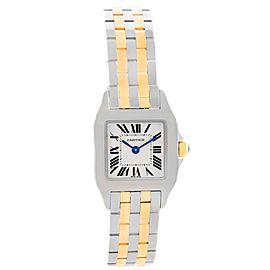 Cartier Santos Demoiselle W25066Z6 Stainless Steel & 18K Yellow Gold 22mm Womens Watch