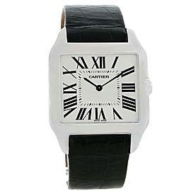 Cartier Santos Dumont W2007051 18K White Gold Manual 29mm Mens Watch