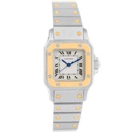 Cartier Santos Galbee Stainless Steel & 18K Yellow Gold 24mm Womens Watch