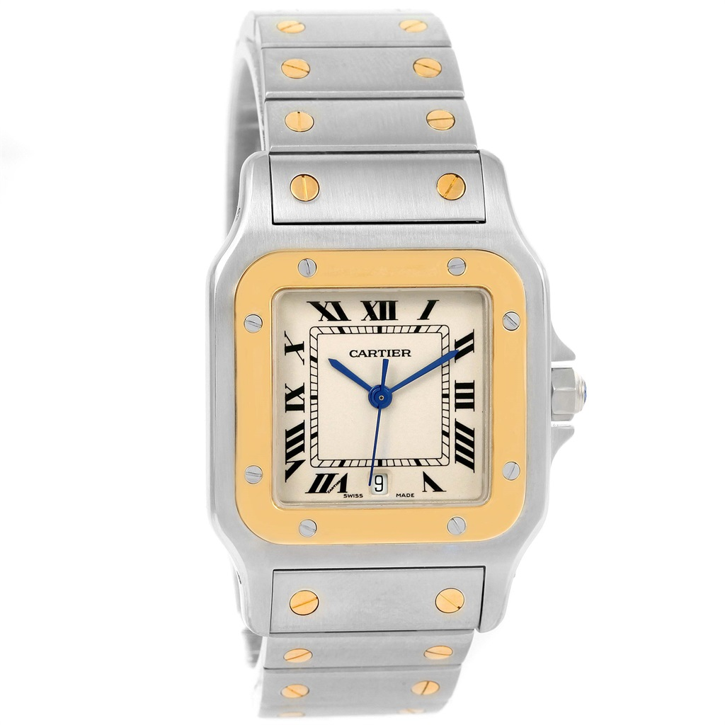 """Image of """"Cartier Santos Galbee W20011C4 Stainless Steel & 18K Yellow Gold"""""""