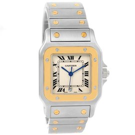 Cartier Santos Galbee W20011C4 Stainless Steel & 18K Yellow Gold Quartz 29mm Unisex Watch