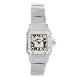 Cartier Santos Galbee W20056D6 Stainless Steel & Silver Dial Quartz 24mm Womens Watch
