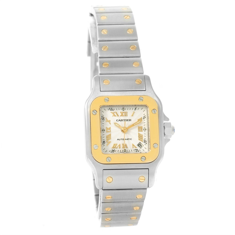 "Image of ""Cartier Santos W20057C4 Stainless Steel 18K Yellow Gold Automatic 24mm"""
