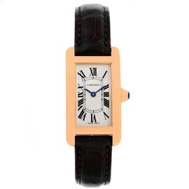 Cartier Tank Americaine W2607456 18K Rose Gold 19mm Womens Watch