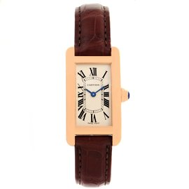 Cartier Tank Americaine W2607456 18K Rose Gold 19mm Womens Watch