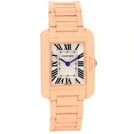 Cartier Tank Anglaise W5310013 18K Rose Gold 23mm Womens Watch