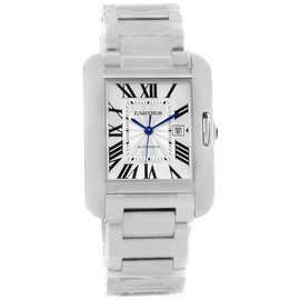 Cartier Tank Anglaise W5310009 Stainless Steel Automatic 29.8mm Mens Watch