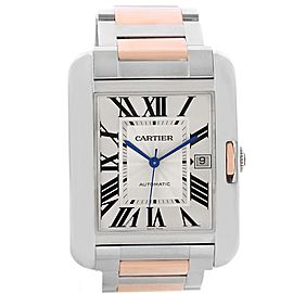 Cartier Tank Anglaise XL W5310006 Stainless Steel & 18K Rose Gold Automatic 36.2mm Mens Watch