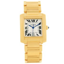 Cartier Tank Francaise W50001R2 18K Yellow Gold Automatic 28mm Unisex Watch