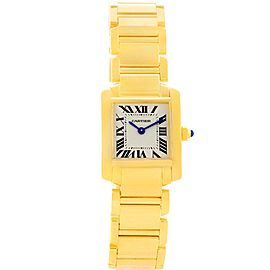 Cartier Tank Francaise W50002N2 18K Yellow Gold Quartz 20mm Womens Watch