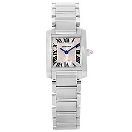 Cartier Tank Francaise W51031Q3 Stainless Steel & Silver Dial 20mm Womens Watch