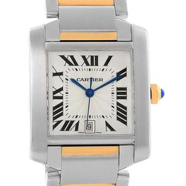 Cartier Tank Francaise W51005Q4 Stainless Steel & 18K Yellow Gold 28mm Unisex Watch