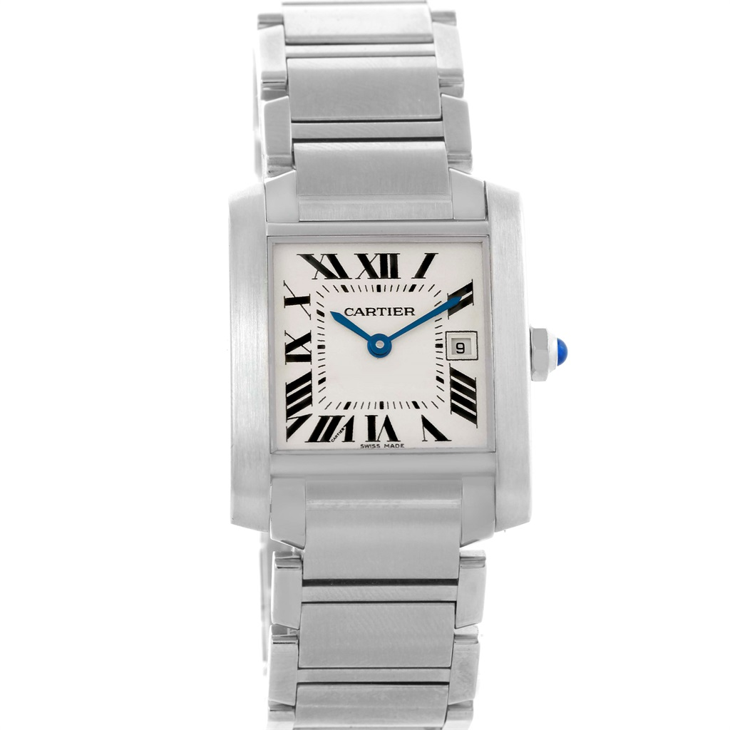 """Image of """"Cartier Tank Francaise W51011Q3 Stainless Steel Quartz Date 25mm"""""""