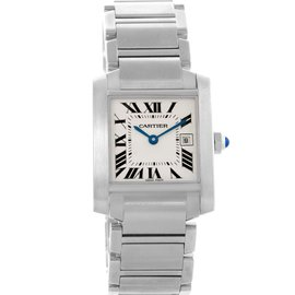 Cartier Tank Francaise W51011Q3 Quartz Stainless Steel 25mm Womens Watch