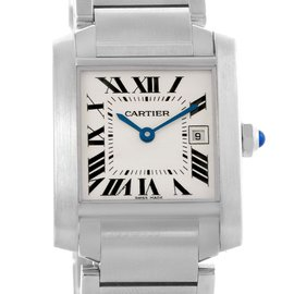 Cartier Tank Francaise W51011Q3 Stainless Steel 25mm Womens Watch
