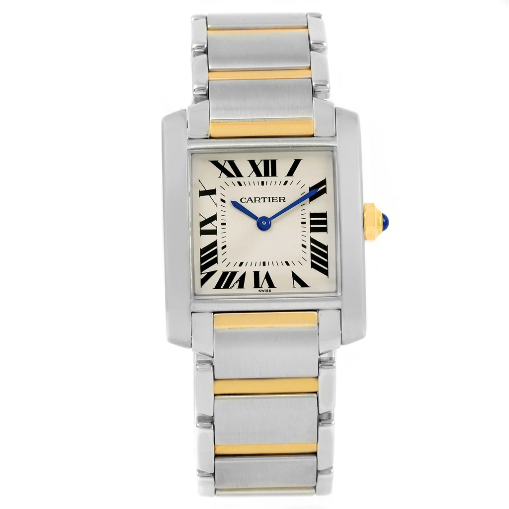 """Image of """"Cartier Tank Francaise W2Ta0003 Stainless Steel & 18K Yellow Gold 25mm"""""""