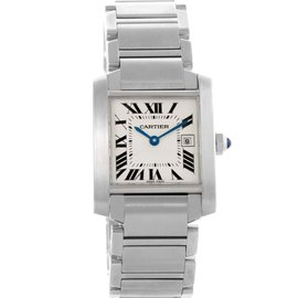 Cartier Tank Francaise W51011Q3 Stainless Steel Quartz 25mm Womens Watch