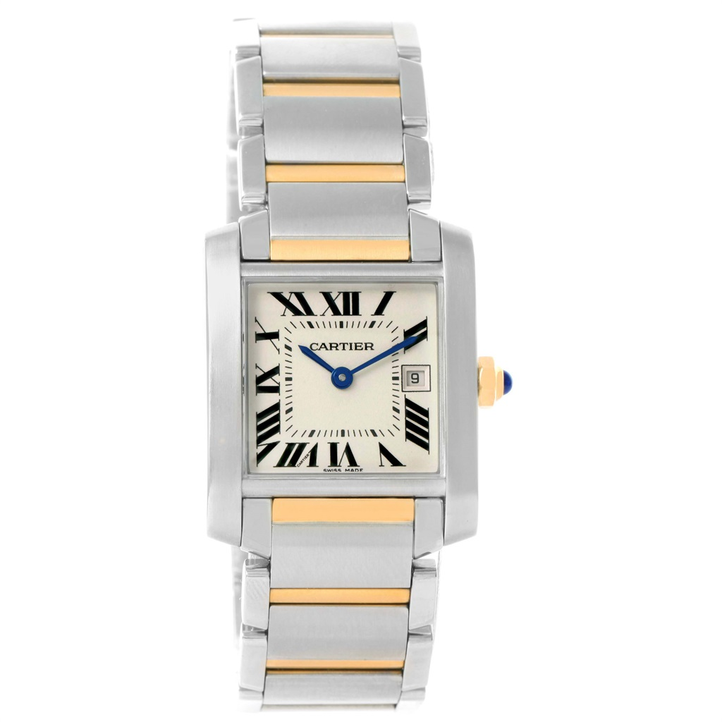 """Image of """"Cartier Tank Francaise W51012Q4 Stainless Steel & 18K Yellow Gold 25mm"""""""