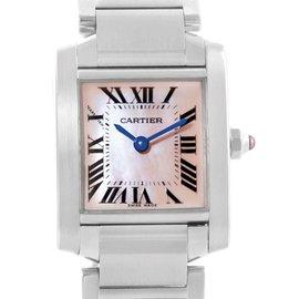 Cartier Tank Francaise W51028Q3 Stainless Steel Quartz 20mm Womens Watch