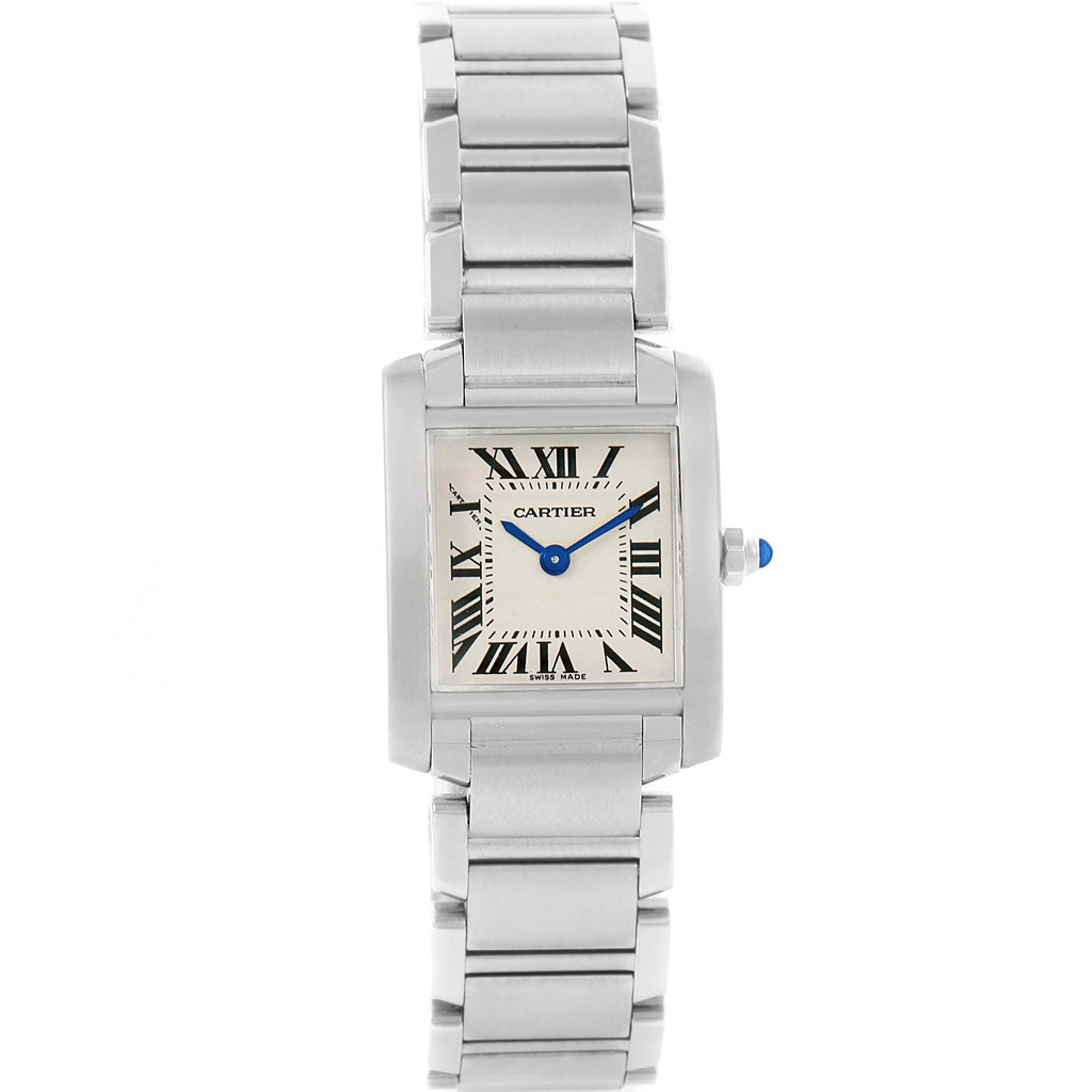 """Image of """"Cartier Tank Francaise W51008Q3 Silver Dial Stainless Steel 20mm"""""""