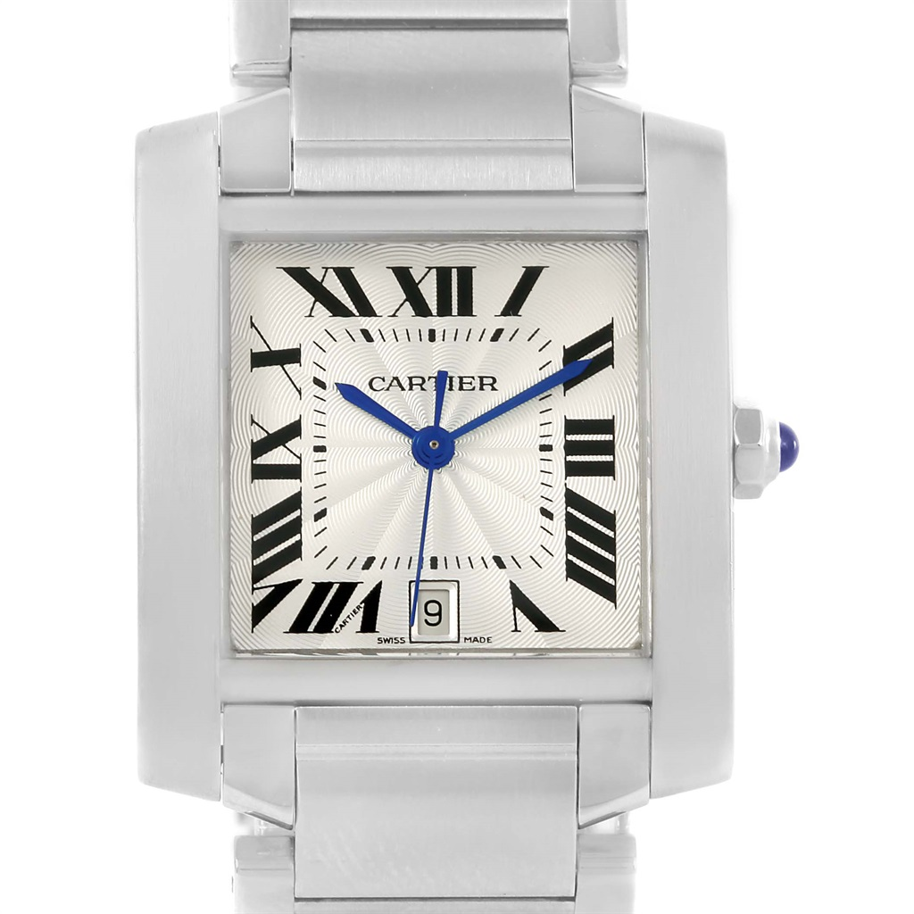 """Image of """"Cartier Tank Francaise W51002Q3 Stainless Steel 28mm Unisex Watch"""""""