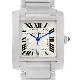 Cartier Tank Francaise W51002Q3 Stainless Steel 28mm Unisex Watch